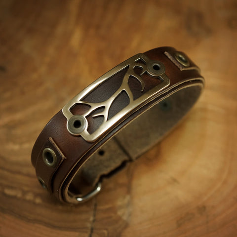 Sight Line Provisions Lost Cast Collection Bronze Antler Shed Leather Bracelet