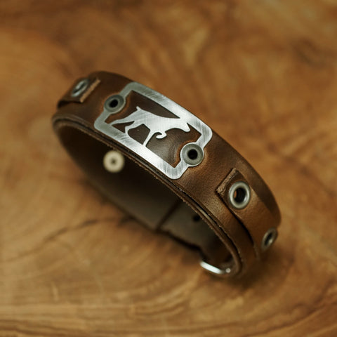 Sight Line Provisions Noble Companion German Short Haired Pointer Leather Bracelet