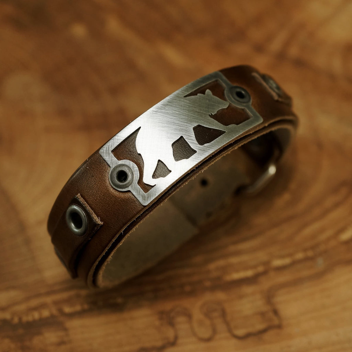 Sight Line Provisions The Bear Leather Bracelet