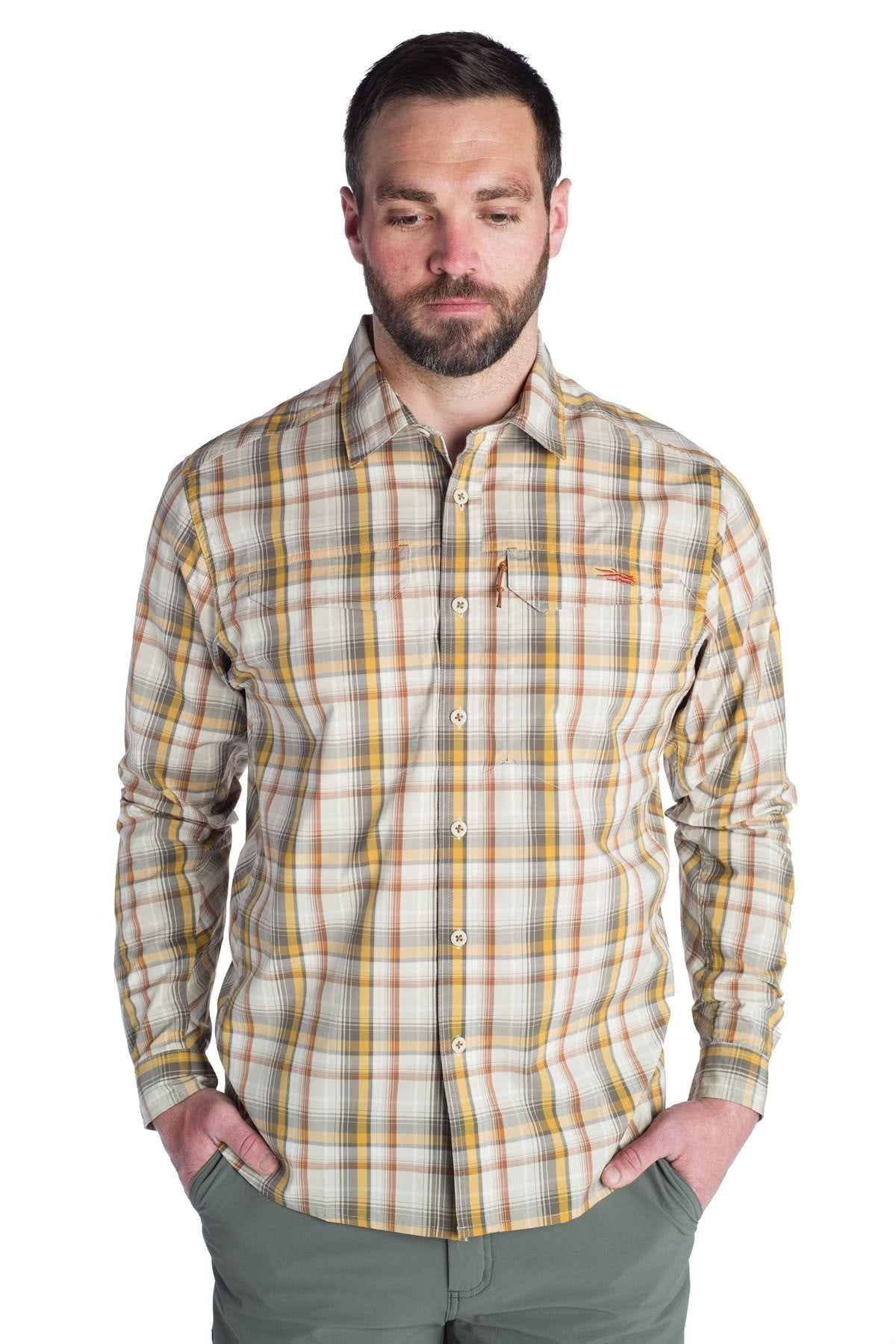Sitka GlobeTrotter Shirt LS Cargo Plaid Full
