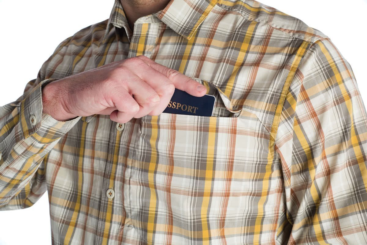 Sitka GlobeTrotter Shirt LS Cargo Plaid Pocket 2