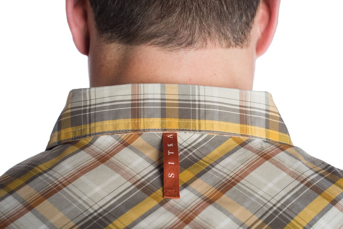 Sitka GlobeTrotter Shirt LS Cargo Plaid Collar