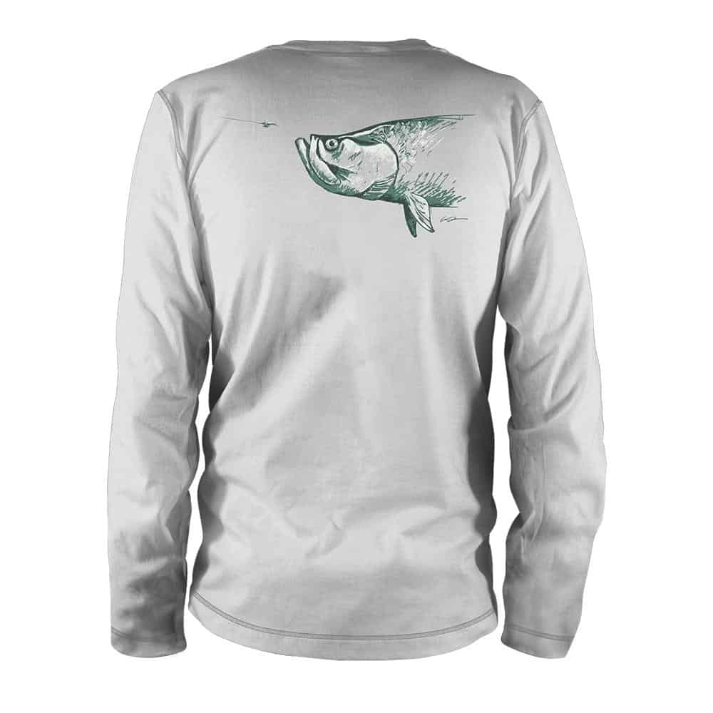 TPAR85 RepYourWater Artists Reserve Tarpon Ultralight Fishing Sun Shirt Back