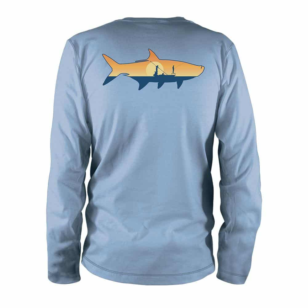 TPSR85 RepYourWater Tarpon Sunrise Ultralight Fishing Sun Shirt Long Sleeve Back