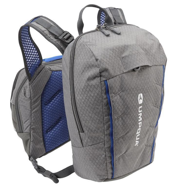 Umpqua Overlook 500_Zero Sweep Fly Fishing Chest Pack Granite Backpack (Not Included)