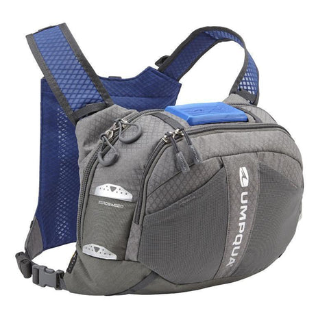 Umpqua Overlook 500_Zero Sweep Fly Fishing Chest Pack Granite