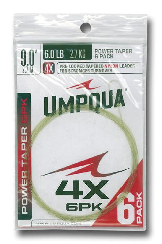 Umpqua POWER TAPER LEADER 6 Pack