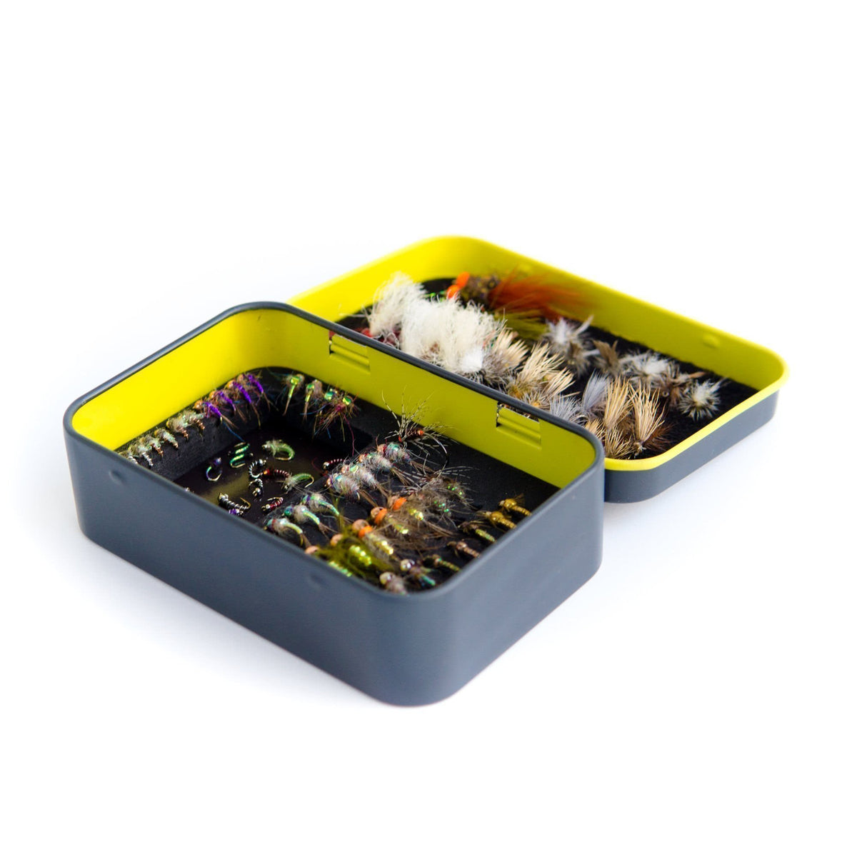 Yakoda Supply Fly Tin with Foam and Magnet Tray Hero Open