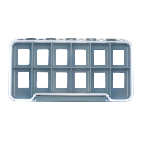 anglers accessories hook hostel fly box regular 12 compartment