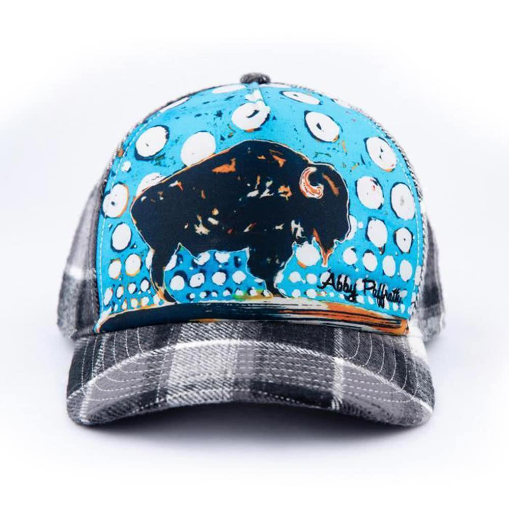 art 4 all by abby paffrath artist series hat big sky bison trucker hat