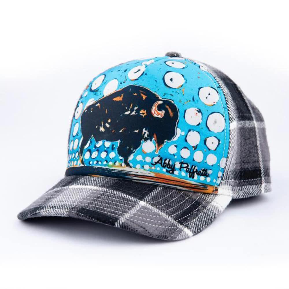 art 4 all by abby paffrath artist series hat big sky bison trucker hat 3