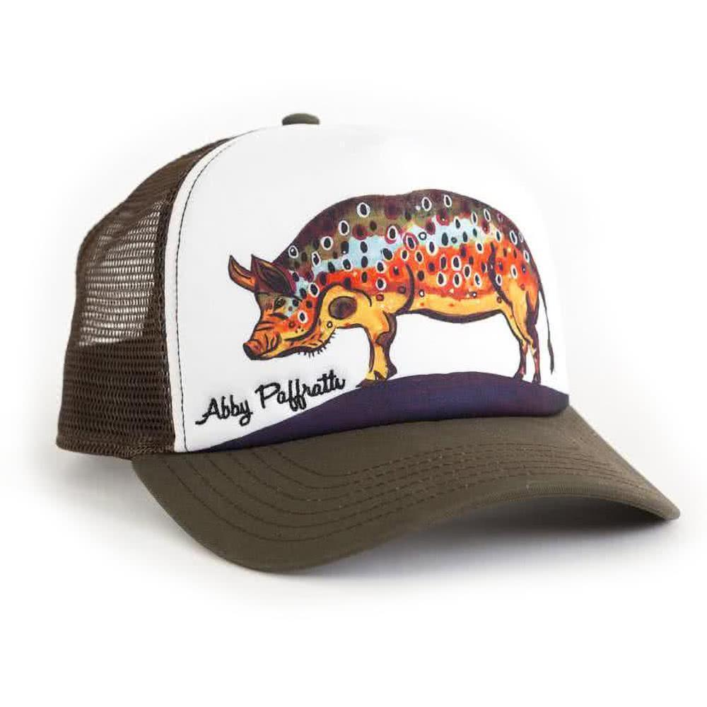 pig brown trout hat art 4 all by abby paffrath artist series hat hog brown