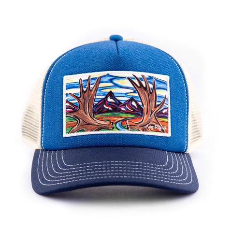 art4all by Abby Paffrath Moose Country High Profile Foam Trucker Hat front