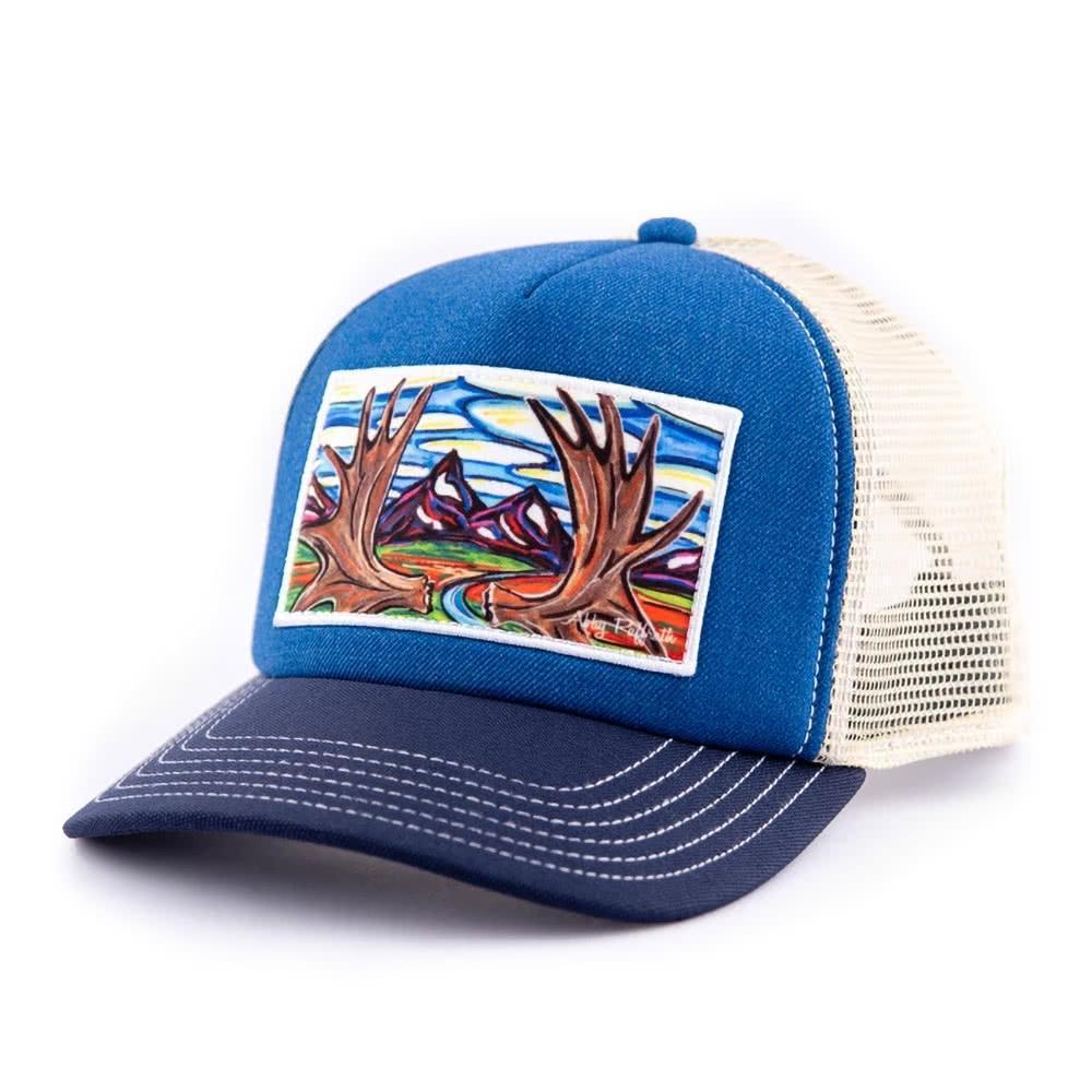 art4all by Abby Paffrath Moose Country High Profile Foam Trucker Hat left side