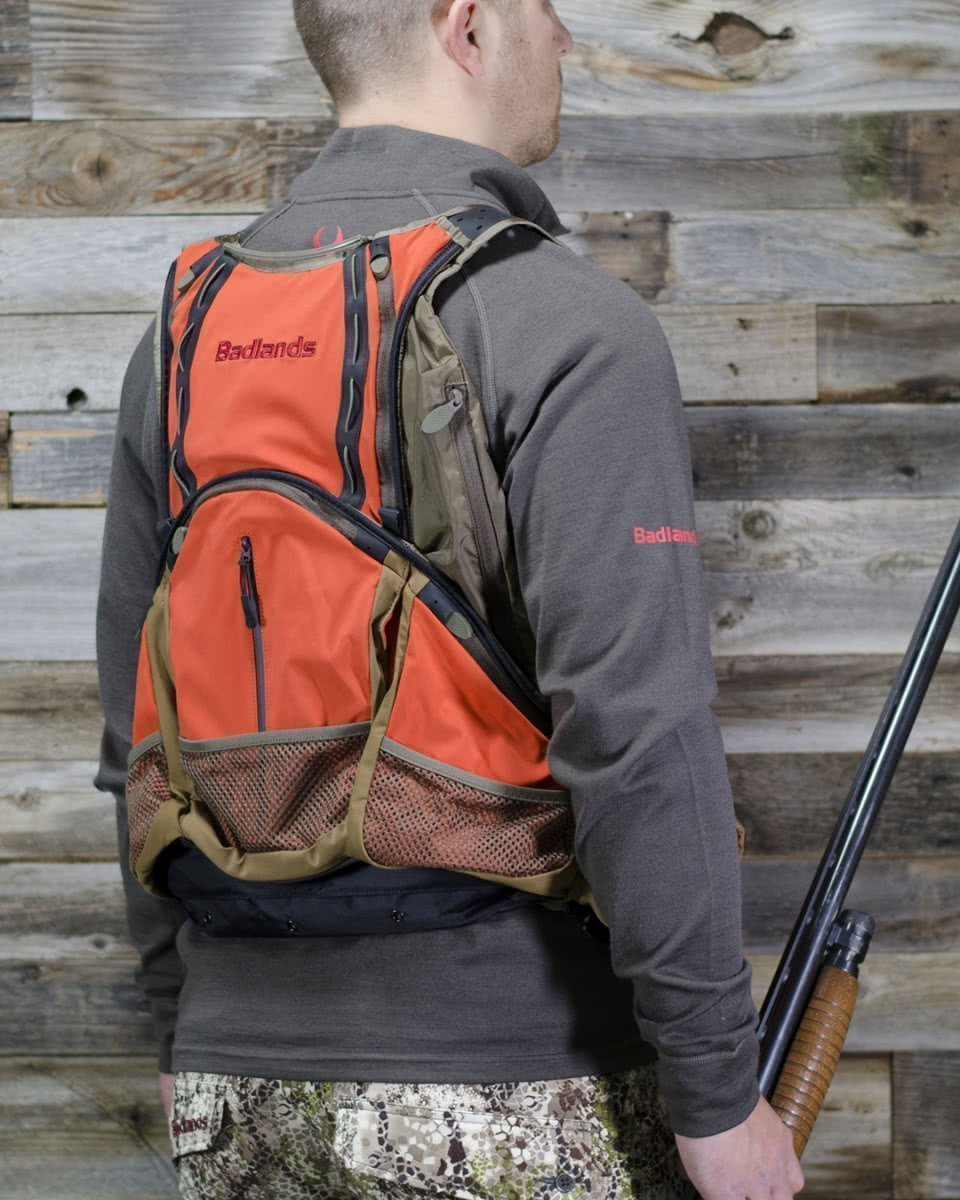 badlands packs upland game vest on model