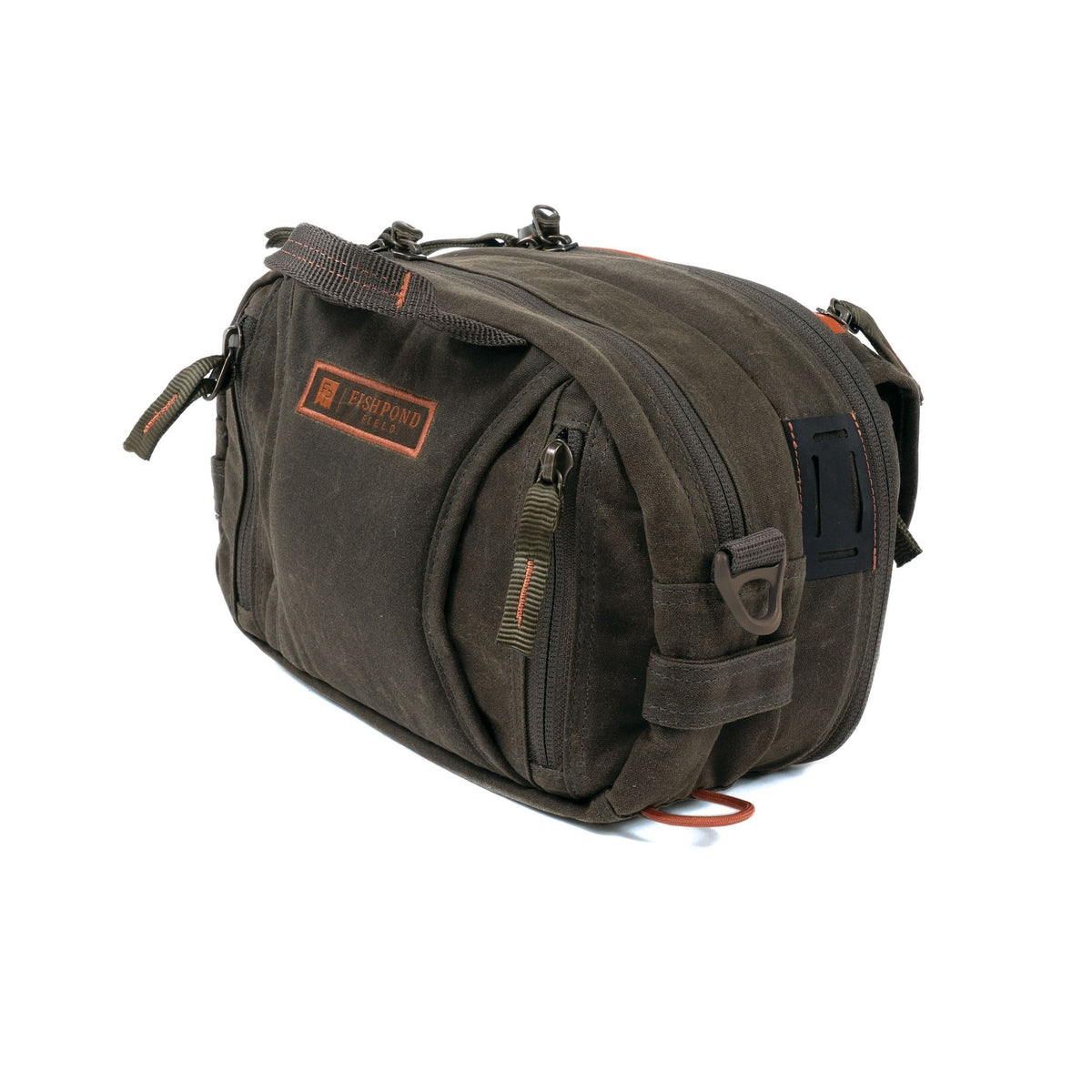 fishpond blue river peat moss lumbar pack chest pack back