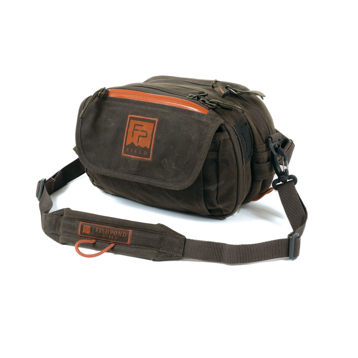 fishpond blue river peat moss lumbar pack chest pack