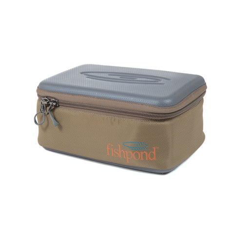 fishpond ripple reel case large sand saddle brown front