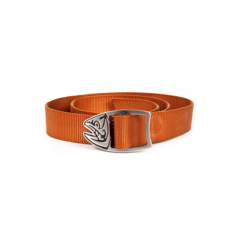 fishpond trucha webbing belt burnt orange