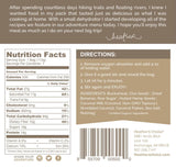 heathers choice banana nutmeg breakfast back label