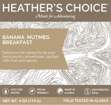 heathers choice banana nutmeg breakfast front label