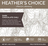 heather's choice dark chocolate chili dinner meal front