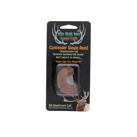 mile high note game calls contender single reed diaphragm elk call