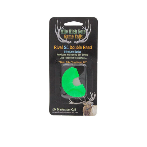 mile high note game calls rival slim line sl double reed diaphragm elk call