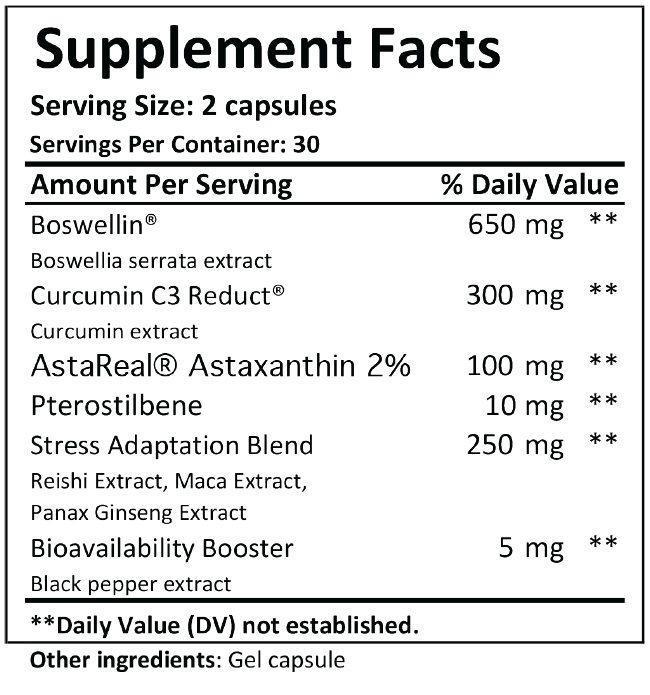 mtn ops defuse supplement facts panel