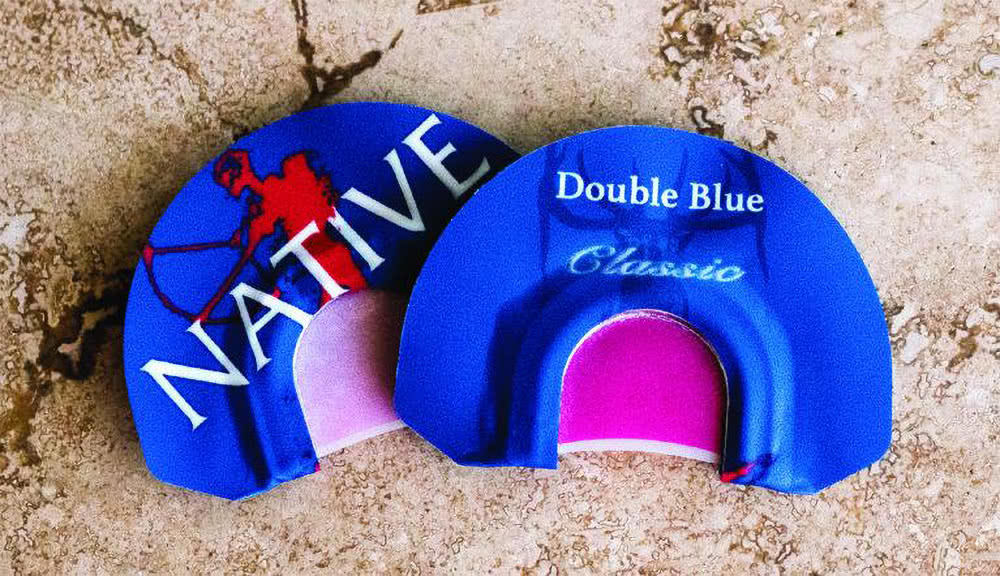 native by carlton double blue classic standard frame elk diaphragm call