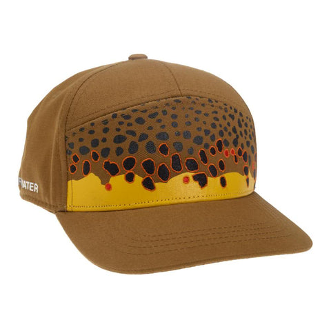 rep your water brown trout skin 7 panel hat