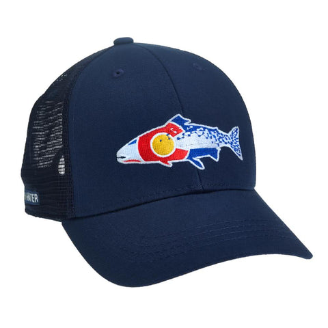 repyourwater colorado cutthroat hat navy COCT51
