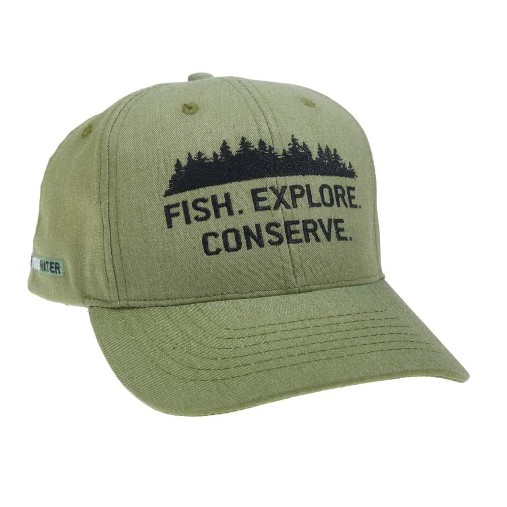 repyourwater fish explore conserve eco-twill outdoors hat