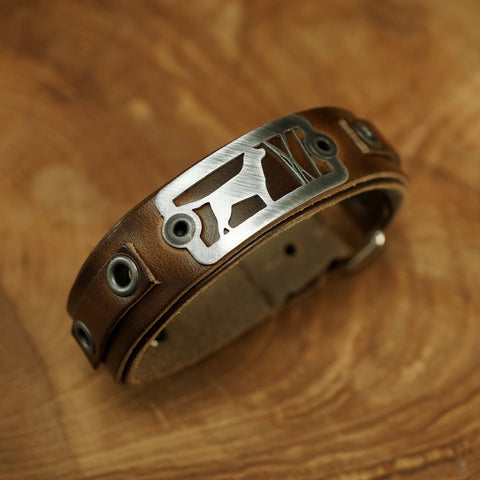 sight line provisions good dog leather bracelet