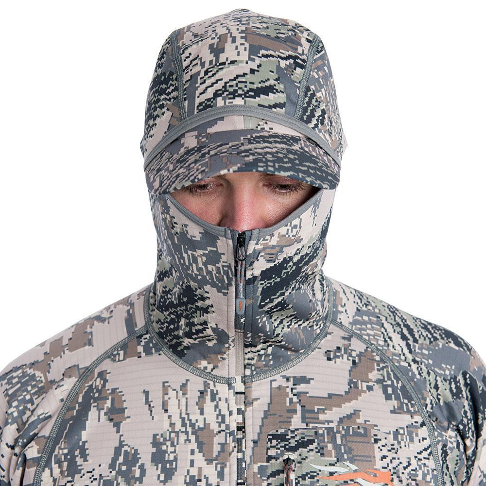 sitka core heavyweight hoody optifade open country low profile hood detail
