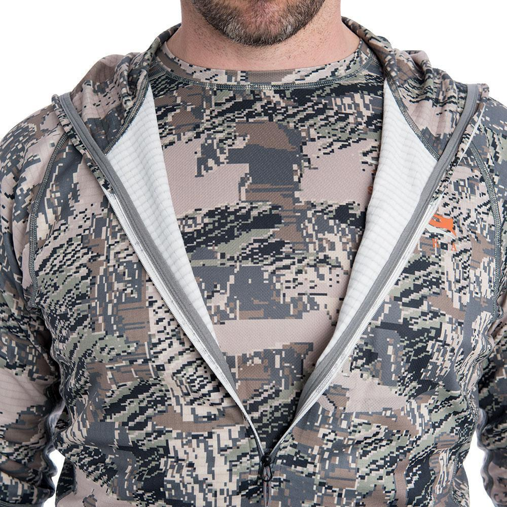sitka core heavyweight hoody optifade open country mid length zipper detail