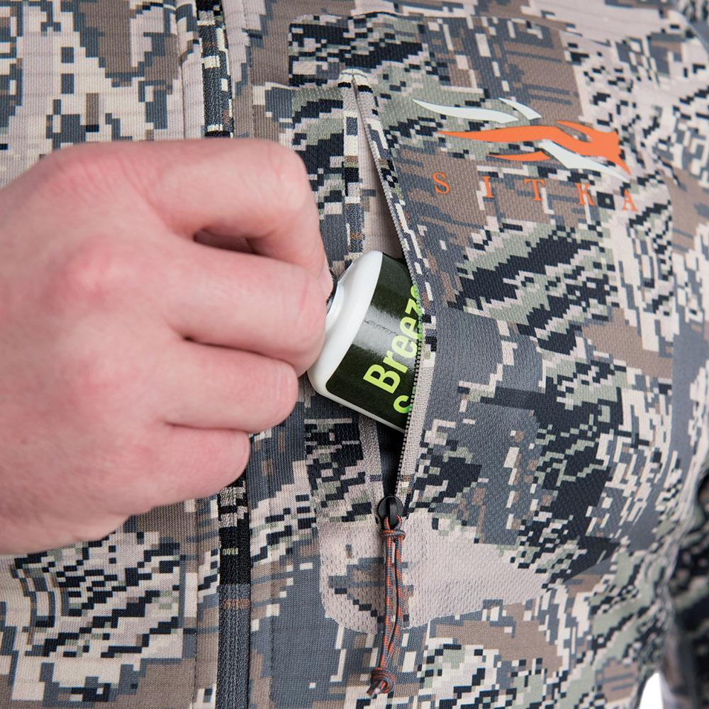 sitka core heavyweight hoody optifade open country wind checker detail
