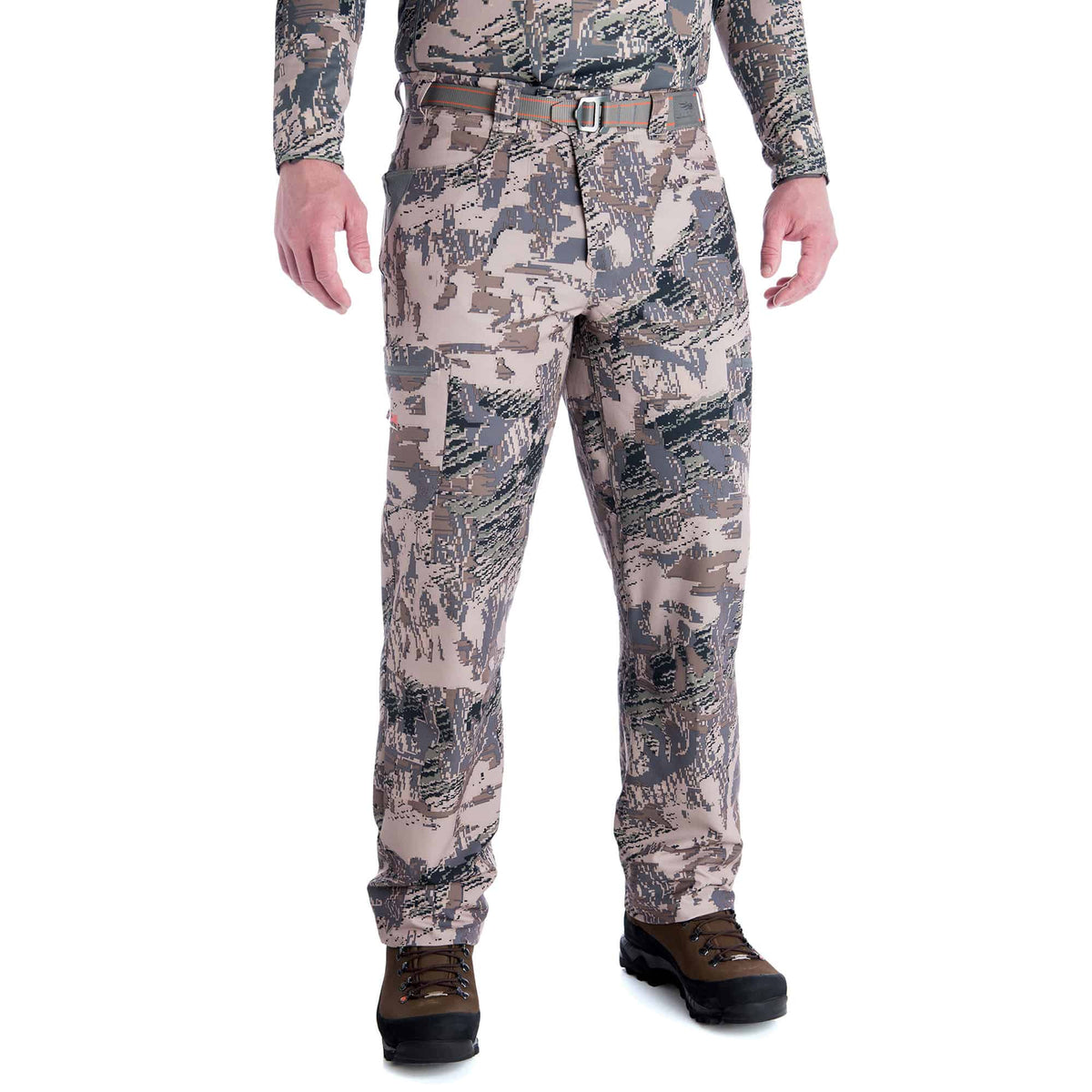 sitka traverse pant optifade open country performance hunting pant full front