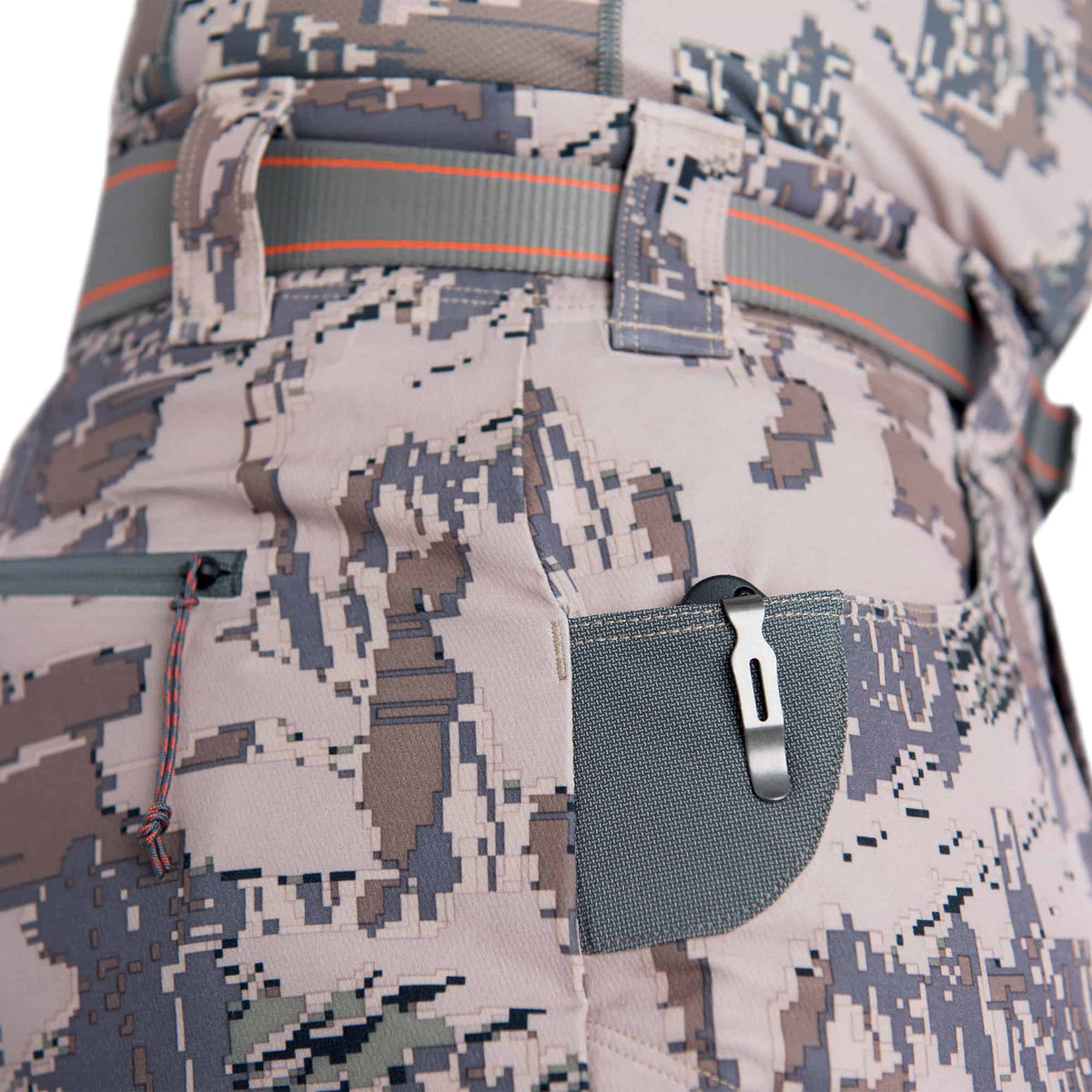 sitka traverse pant optifade open country performance hunting pant pocket knife patch detail
