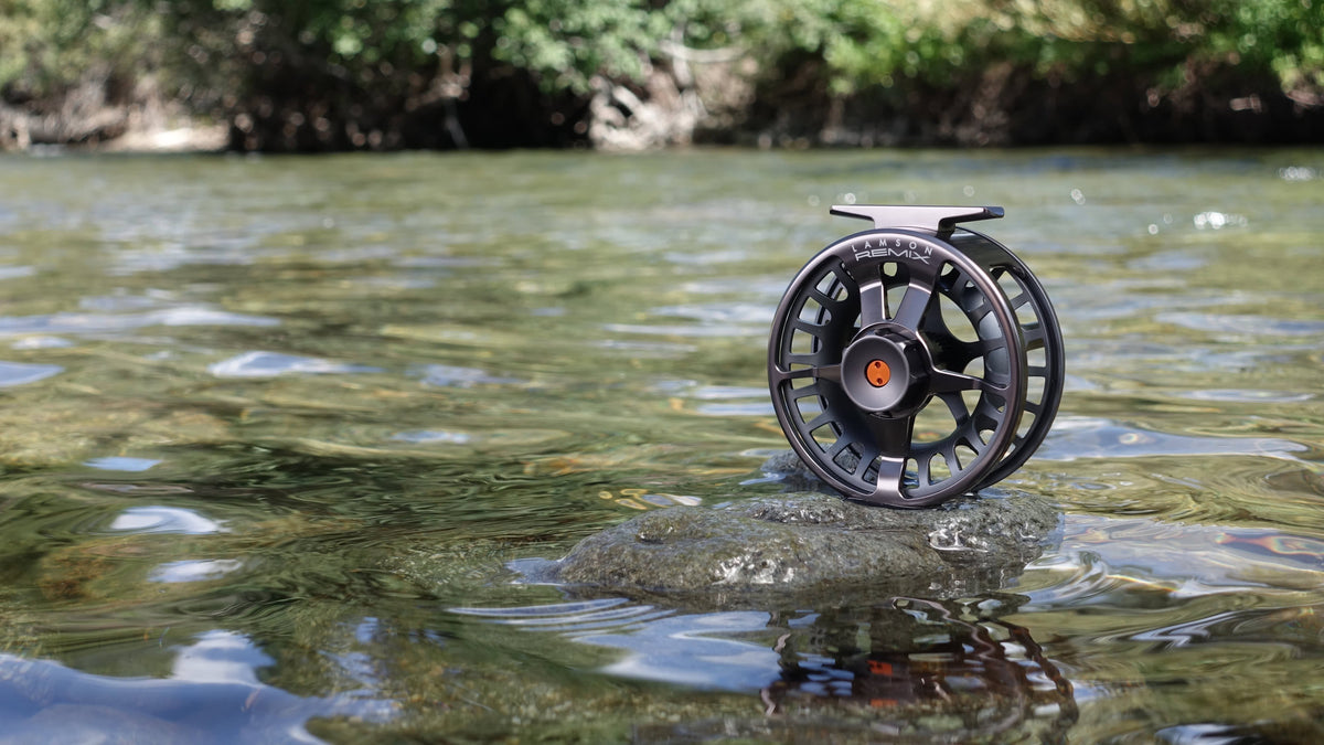 waterworks lamson remix fly reel smoke fly fishing reel on the water