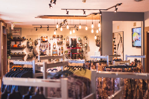 Basin + Bend grand opening retail shop interior