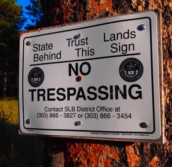 colorado state trust land no public access