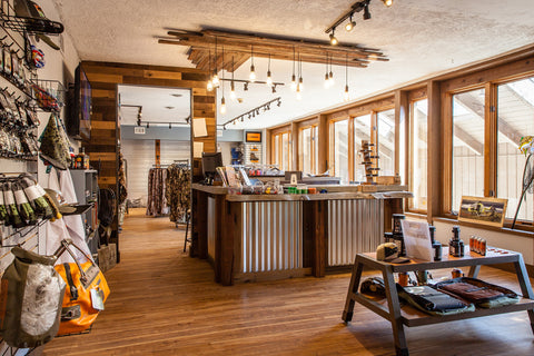 Downtown Evergreen Fly Shop and Hunting Gear Store Brick and Mortar Retail Inside Alt Angler