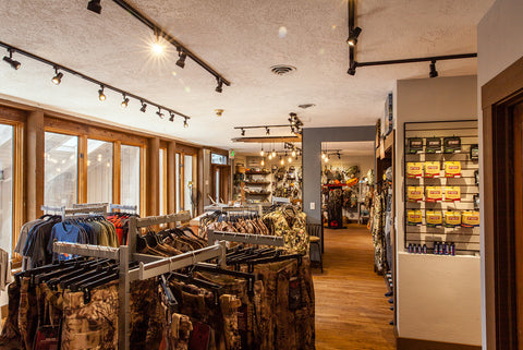 Downtown Evergreen Fly Shop and Hunting Gear Store Brick and Mortar Retail Inside Angle 4