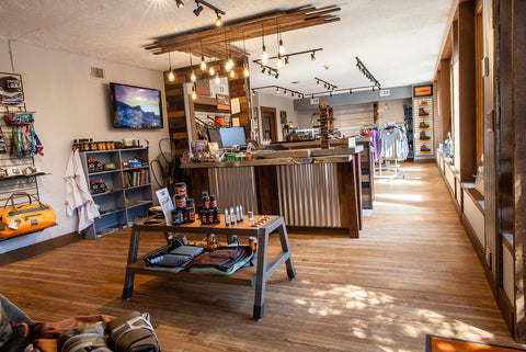 Downtown Evergreen Fly Shop and Hunting Gear Store Brick and Mortar Retail Inside
