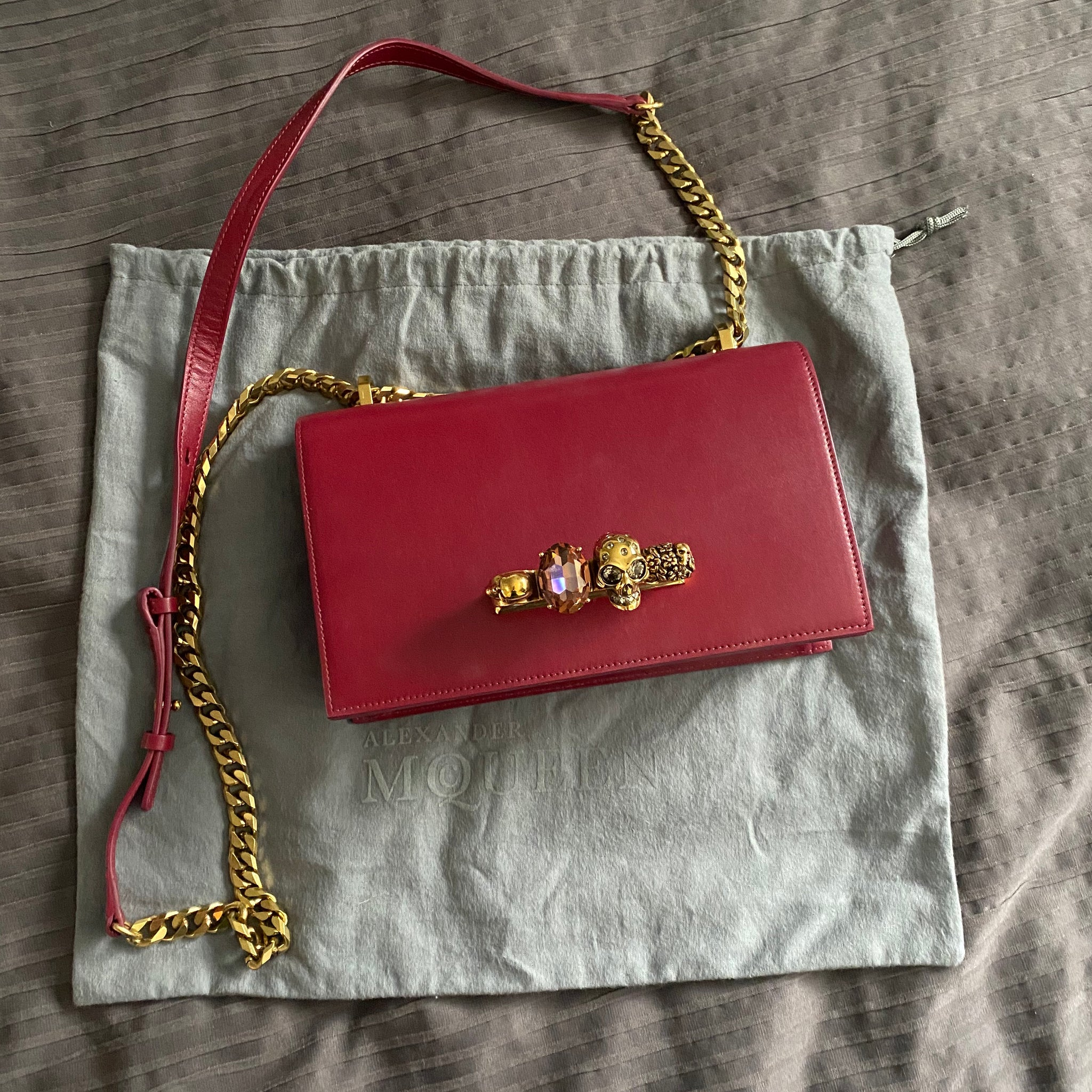Alexander McQueen Jeweled Satchel Shoulder Bag