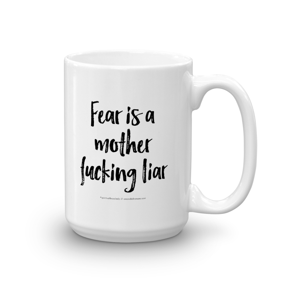 Fear is a mother fucking liar — Mug