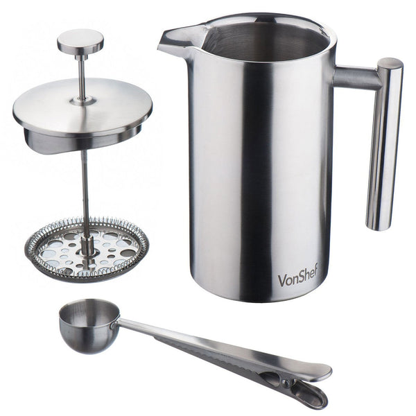 Stainless Steel French Press Cafetiere Coffee Maker - MyJavaRoaster