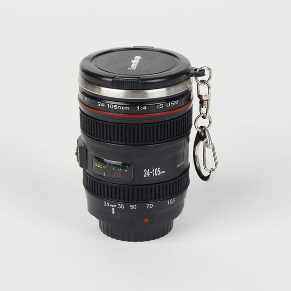 Mini Stainless Steel Camera Lens Mug - MyJavaRoaster