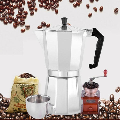 Aluminum 8-Angle Stove Top Coffee/Espresso Maker Percolator - MyJavaRoaster